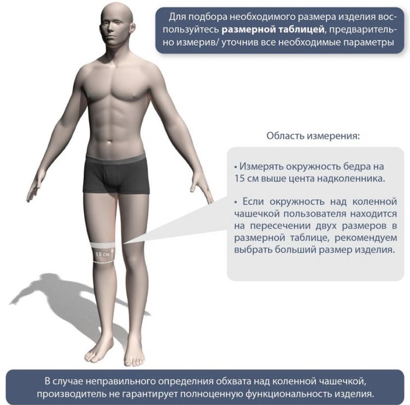 Бандаж на коленный сустав неразъемный со спиральными ребрами жесткости - фото 4