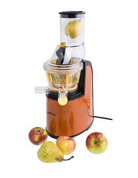 Шнековая соковыжималка Kitfort КТ-1102-1, оранжевая