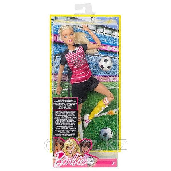 Barbie Безграничные движения Футболистка (блондинка) DVF68