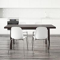 ВЭСТАНБИ/ВЭСТАНО / БЕРНГАРД Стол и 4 стула, темно-коричневый, белый, 170 см, фото 1