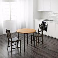ГАМЛАРЕД Стол, светлая морилка антик, черная морилка, 85 см, фото 1
