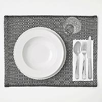 ГОДДАГ Салфетка под приборы, черный, белый, 35x45 см, фото 1