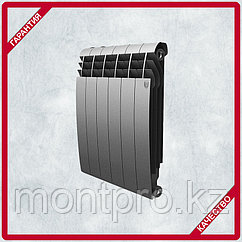 Биметаллический дизайн-радиатор Royal Thermo - BILINER - 500/90 серебро выпуклый