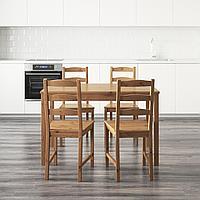 ЙОКМОКК Стол и 4 стула, морилка,антик, фото 1