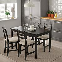 ЛЕРХАМН Стол, черно-коричневый, 118x74 см, фото 1
