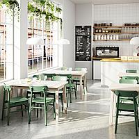 НОРРОКЕР / РЁННИНГЕ Стол и 4 стула, береза зеленый, 125x74 см, фото 1