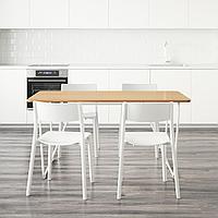 ОВРАРЮД / ЯН-ИНГЕ Стол и 4 стула, белый бамбук, белый, 150 см, фото 1
