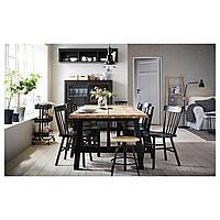 СКОГСТА / НОРРАРИД Стол и 6 стульев, акация, черный, 235x100 см, фото 1