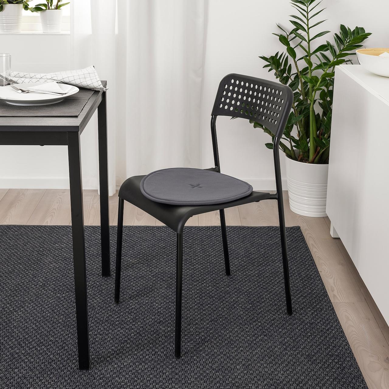 СТРОФЛИ Подушка на стул, темно-серый, 36 см - фото 2