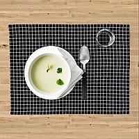 ХАНТВЕРК Салфетка под прибор, ручная работа черный/белый, 45x35 см, фото 1