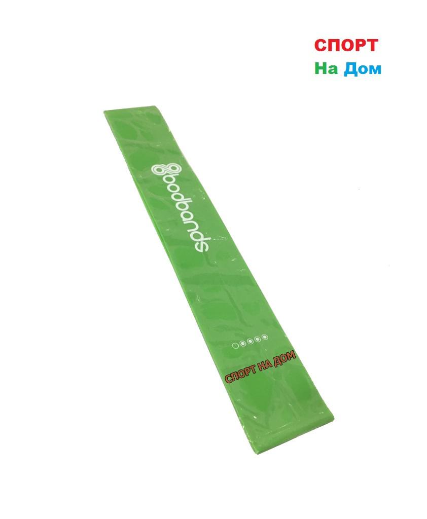 Спортивная резинка для фитнеса эспандер для ног (зеленый)