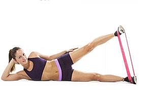 Спортивная резинка для фитнеса эспандер для ног (оранжевый), фото 2