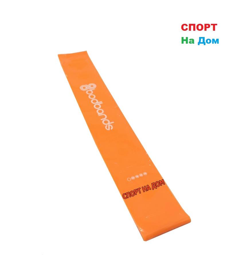 Спортивная резинка для фитнеса эспандер для ног (оранжевый)