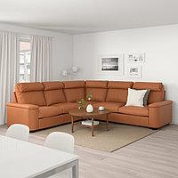 ЛИДГУЛЬТ Угловой диван-кровать, 5-местный, Гранн/Бумстад золотисто-коричневый, фото 1