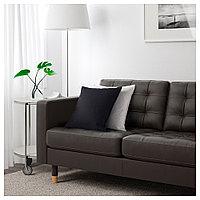 ЛАНДСКРУНА 3-местный диван-кровать, Гранн, Бумстад темно-коричневый/металл, фото 1