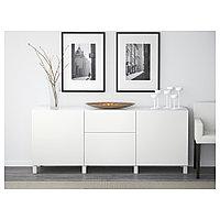 БЕСТО Комбинация для хранения с ящиками, Лаппвикен белый, 180x40x74 см, фото 1