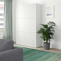 БЕСТО Комбинация для хранения с дверцами, белый, вассвикен белый, 120x40x192 см, фото 1