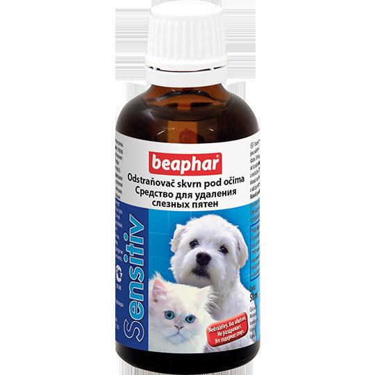 Средство Sensitive для удаления слезных пятен животных, Beaphar - 50 мл