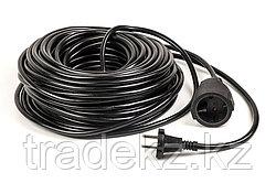 Удлинитель электрический PowerPlant 30 м, 2x1.0 мм2, 8А