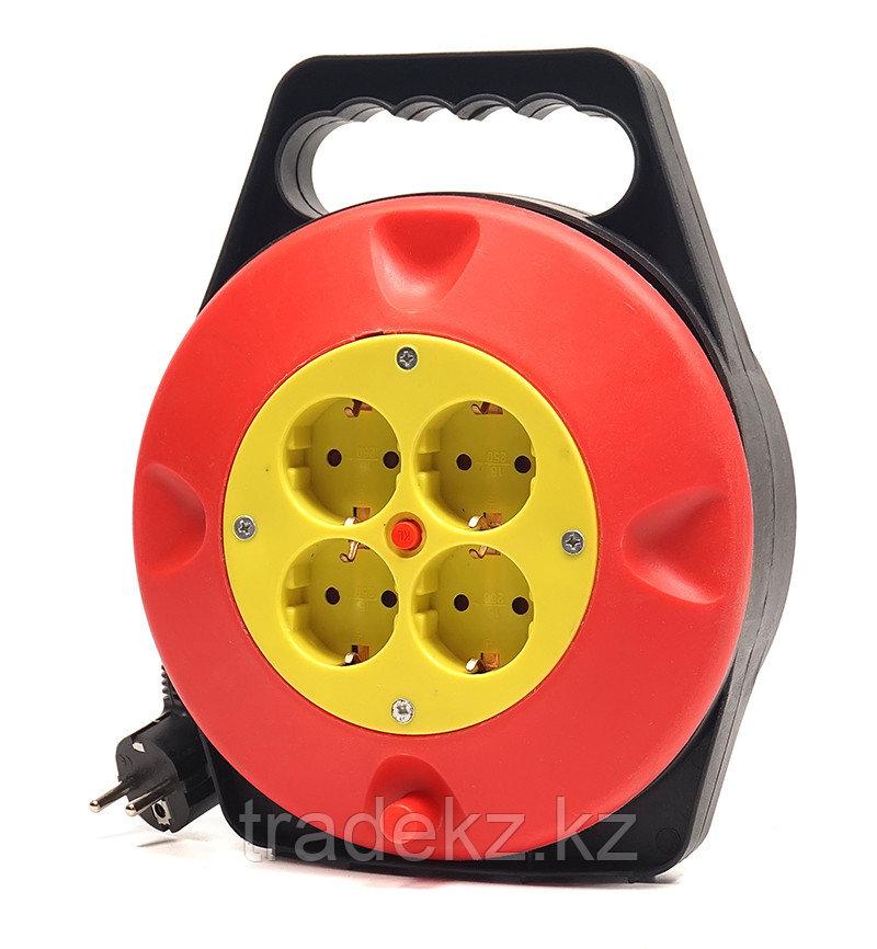 Удлинитель электрический на катушке PowerPlant 10 м, 4 розетки, 3 х 1.5 мм2, 10А