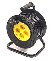 Удлинитель электрический на катушке PowerPlant 20 м, 4 розетки, 3 х 1.5 мм2, 10А, фото 1