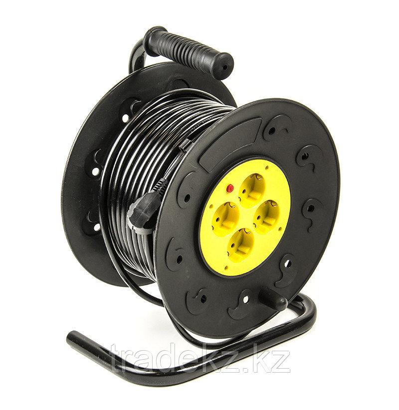 Удлинитель электрический на катушке PowerPlant 40 м, 3x1.5 мм2, 10А, 4 розетки, морозостойкий