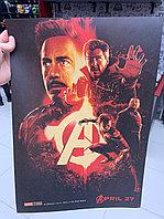 """Крафтовый постер """"Мстители: Война бесконечности (вар. первый)"""""""