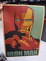 """Крафтовый постер """"Железный человек (вар. первый)"""""""