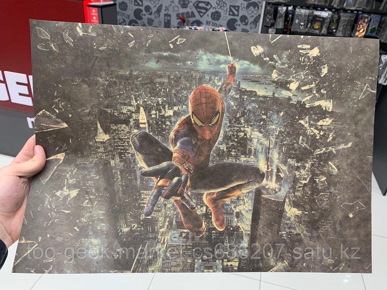 """Крафтовый постер """"Новый Человек-паук"""""""
