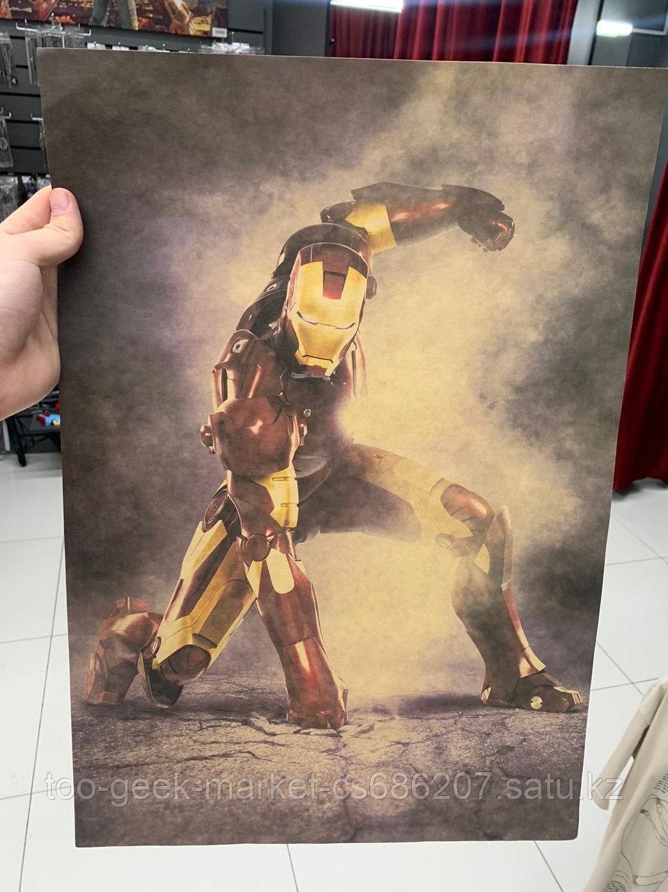 """Крафтовый постер """"Железный человек (вар. второй)"""""""