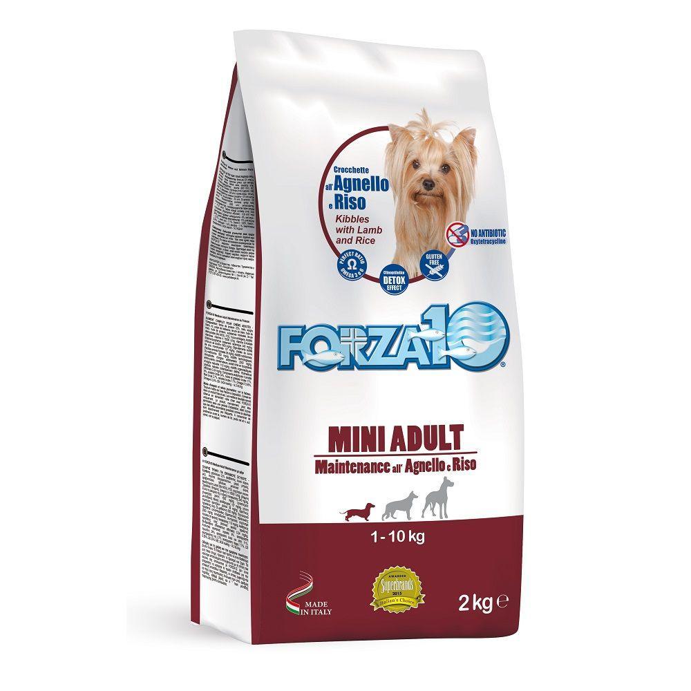 Корм Forza10 Mini Adult Maintenance для взрослых собак, мелких пород (Ягненок с Рисом) - 12.5 кг