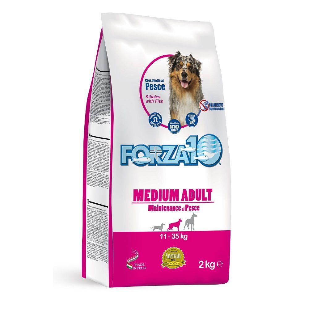 Корм Forza10 Medium Adult Maintenance для взрослых собак, средних пород (Рыба) - 15 кг