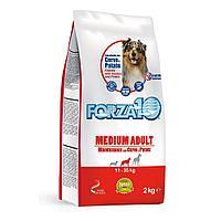 Корм Forza10 Medium Maintenance для взрослых собак, средних пород (Оленина с Картофелем) - 15 кг