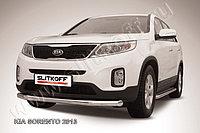 Защита переднего бампера d76 KIA Sorento 2013-14