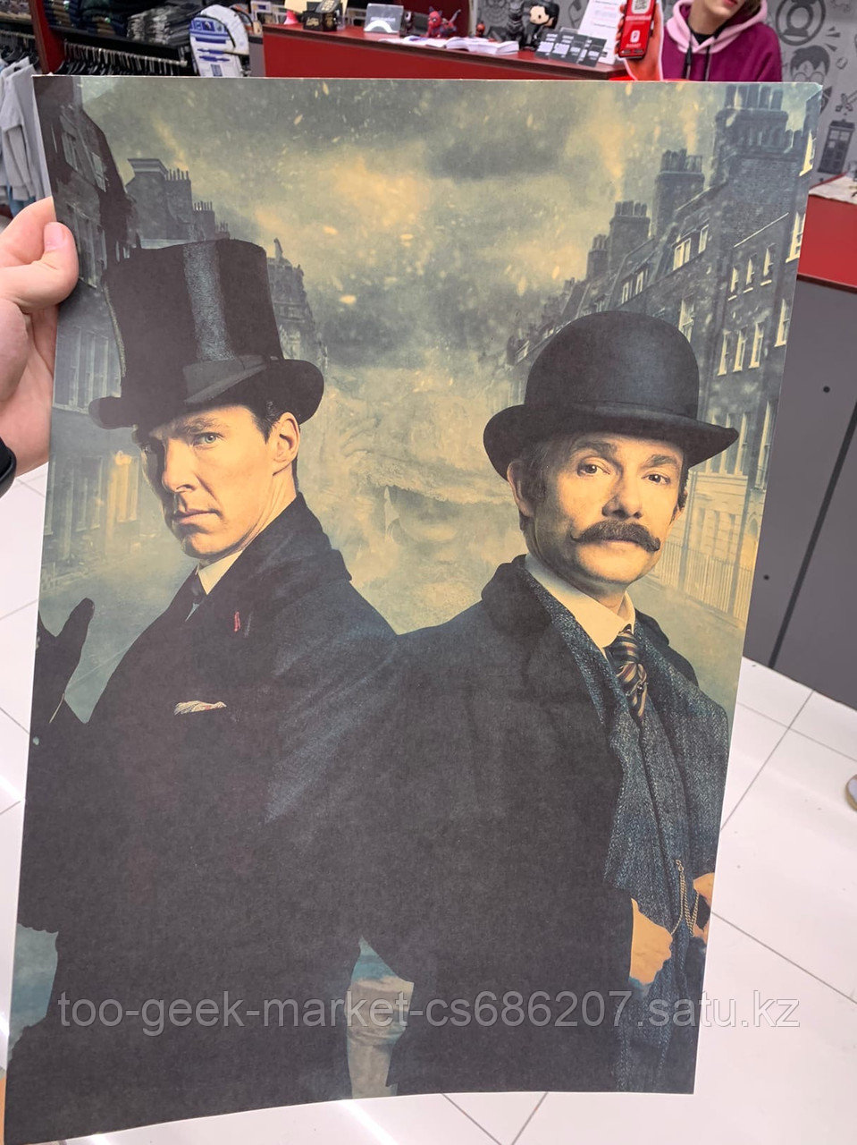 """Крафтовый постер """"Шерлок"""""""