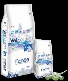 Корм беззерновой Monge Vetsolution Dermatosis при дерматологических заболеваниях собак - 12 кг