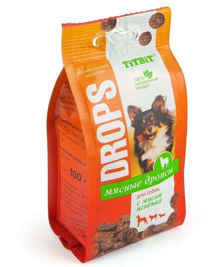 Дропсы мясные для собак (Ягненок), TitBit - 100 г