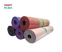 Йога коврик нескользящий Черный (размеры: 180*60*0,6 см)