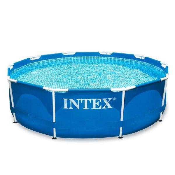 Круглый каркасный бассейн Intex 28200 Metal Frame Pool (305х76 см)