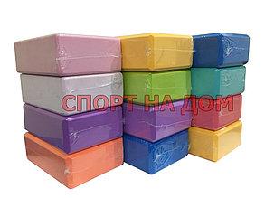 Опорный блок (кирпич) для йоги, фитнеса и гимнастики (цвет розовый), фото 2