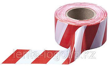 """Оградительная лента """"Красно-белая"""" 75 мм × 100 м"""