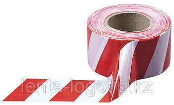 """Оградительная лента """"Красно-белая"""" 100 мм × 100 м"""
