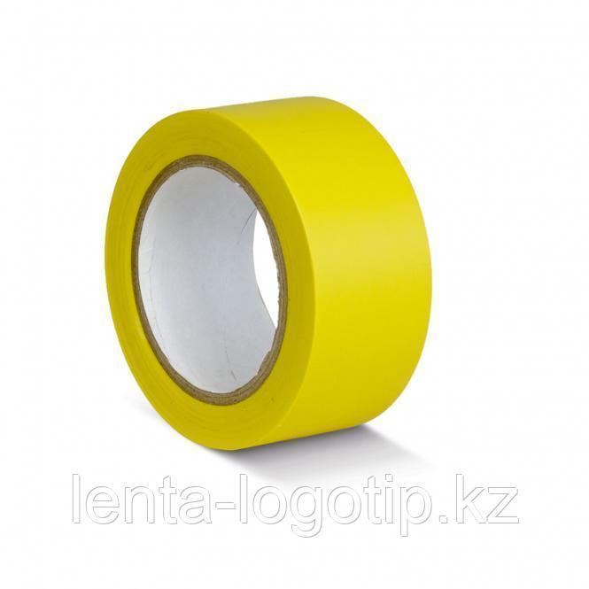 Разметочная клейкая лента ПВХ 150 мкн 24 мм, желтая
