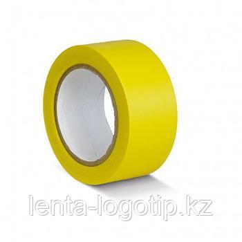 Разметочная клейкая лента, ПВХ, 150мкн Желтая, 24