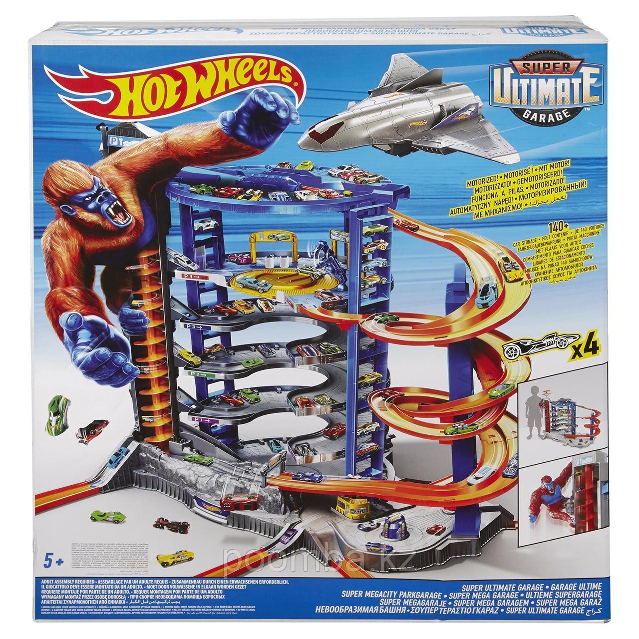 Трек Hot Wheels (Хот Вилс) Невообразимая Башня Super Ultimate Garage, 6-ти уровневый паркинг