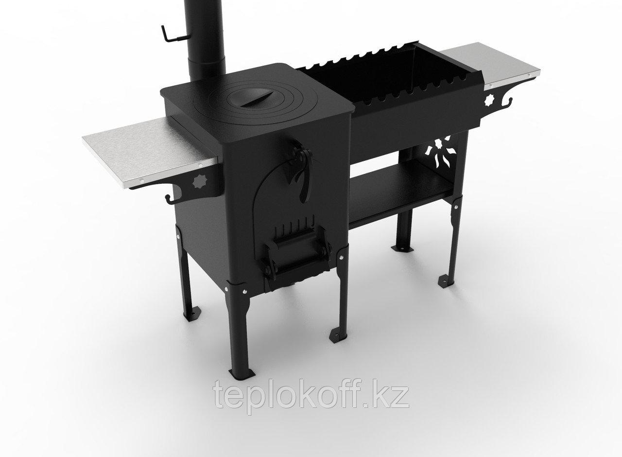 Печь типа казан-мангал Жаркофф - 2 комбинированная