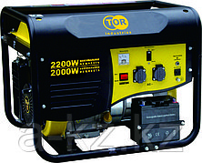 Генератор бензиновый TOR TR2500 2,0кВт 220В 15л  с ручным запуском