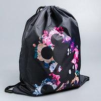 Мешок для обуви 420 х 350 мм, 'Микки в цветах', Микки Маус