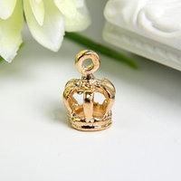 Подвеска 'Корона' золото 1х1,5 см (комплект из 10 шт.)