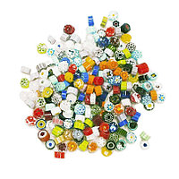 Стеклянные пластины MILLEFIORI COE104, смешанные d=7-8мм, 100г.